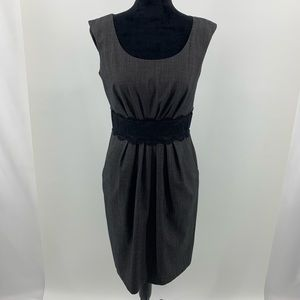 ALYX dress Gray with Black Lace Waist Band Dress